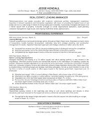 Leasing Agent Resume Sample by Resume Real Estate Agents Resume