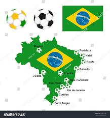 How Many Stars In Brazil Flag Brazil Map Flag Soccer Field Stock Vector 150841406 Shutterstock
