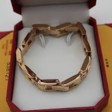 gold chain love bracelet images Fake cartier love bracelet pink gold maillon panthere wide chain band jpg
