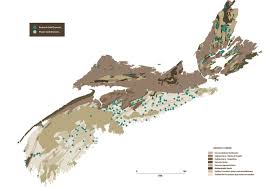 Map Of Nova Scotia Placer Gold Two Types Of Gold Deposits Gold In Nature Gold