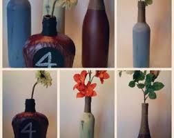 Wine Bottle Home Decor Twine Wrapped Bottle Etsy