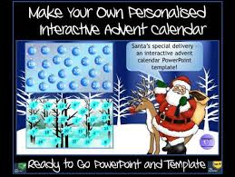 make your own personalised advent calendar ready made