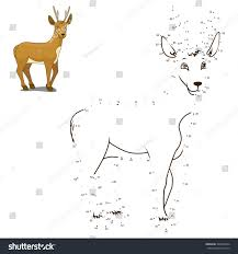 connect dots draw animal educational game stock illustration