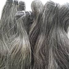 vietnamese natural gray hair extensions mane accessories