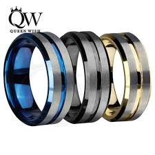 wedding rings tungsten images Queenwish 8mm mens tungsten wedding bands silvering brushed matte jpg