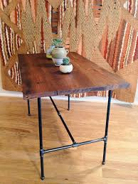 wooden high bar table reclamation administration high bar table made of reclaimed wood