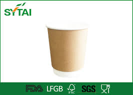 two wall kraft paper cups insulated paper coffee cups with flat