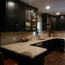 Kitchen Cabinet Colors Cabinet Color Options With Tan Granite Espresso La Cuisine