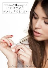 easy way to take off nail polish