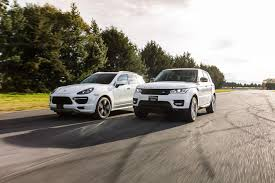porsche cayenne turbo vs turbo s porsche cayenne turbo s vs range rover sport svr acceleration