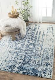 Design Area Rugs Rugs Curtains Distressed Blue Metallic Area Rug For Interesting