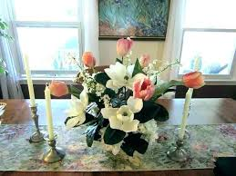 dining table arrangement artificial flowers for dining table dining room tables arrangement