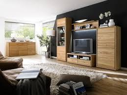 Wohnzimmer Vitrine Wohnwand Wohnzimmer Set Wandregal Tv Board Vitrine Kernbuche