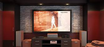 Media Room Tv Vs Projector - slate projector screens screen innovations
