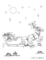 reindeer u0026 sleigh printable connect the dots game christmas