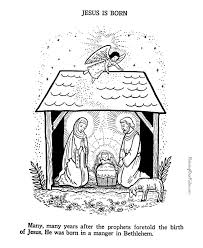 baby jesus nativity coloring print 045