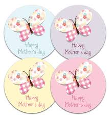 mothers day stickers s day stickers butterfly design 30mm or 60mm diameter