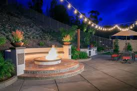Fire Pit With Water Feature - california smartscapefairbrook estates spanish style fire pit