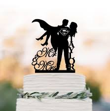 superman wedding cake topper personalized wedding cake topper mr and mrs superman wedding cake