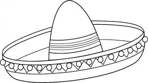 sombrero coloring page abcteach printable worksheet mexico theme