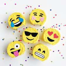 margarita emoticon emoji pinata party favors set of 6 emoji party mini