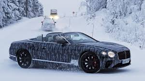 bentley continental gtc new bentley continental gtc goes in a winter wonderland