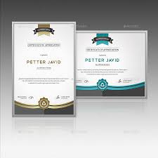 certificate template by themedevisers graphicriver