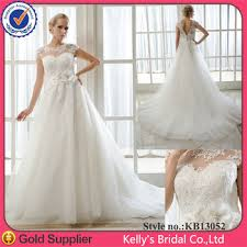 long bodice design short sleeves lace wedding dress for fat
