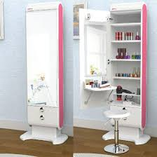 Vanity Hair Cork Elegani Beauty Box Vanity Table Lights Shelf Drawer Standing