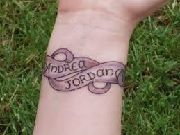 name bracelet tattoos on wrist inner wrist skull tattoo design