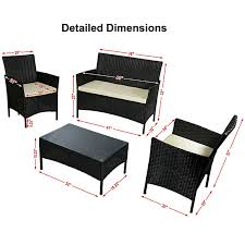 Dot Patio Furniture by Buy Sunnydaze Adelaide 4 Piece Rattan Patio Furniture Set With