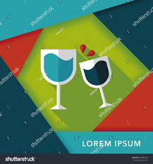 martini glasses cheers martini glass cheers flat icon long stock vector 264826433