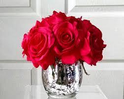 Fake Flowers For Home Decor Silk Floral Arrangement Real Touch Flowers Arrangement Silk