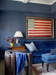Blue Livingroom Patriotic Decor For 4th Of July Red White And Blue Decorating
