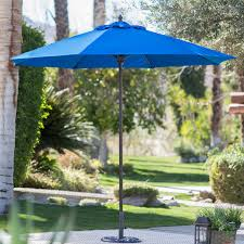 Windproof Patio Umbrella Coral Coast 9 Ft Sunbrella Commercial Grade Aluminum Wind