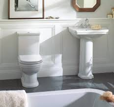 mere aristo traditional bathroom suite with white soft close