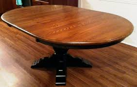 Two Tone Pedestal Dining Table Amish Furniture Factory Blog Learning U0026 Loving Amish Furniture2