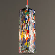 Cylinder Pendant Light Colorful Glass Cylinder Pendant Light Shades Of Light