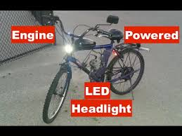 motorized bicycle white wire led headlight causes power loss