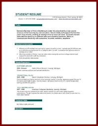resume examples for graduate students current college student