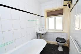 thornhill street calverley hardisty and co having a traditional three piece suite comprising roll top bath with claw feet and shower attachment fitted over a high flush wc and a floating wash hand
