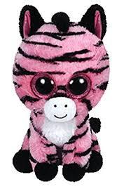 amazon ty beanie boo plush zoey zebra 15cm toys u0026 games