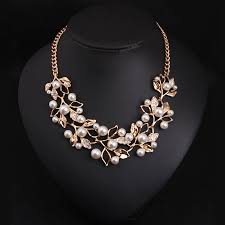 personalized necklaces for women match right simulated pearl necklaces pendants leaves statement