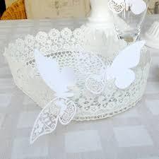 corbeille mariage decoration de table panier dentelle rétro