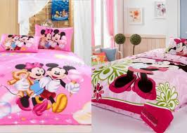 Mickey And Minnie Comforter Search Kids Room Pink Cartoon Mickey Mouse And Minnie Bedding Sets