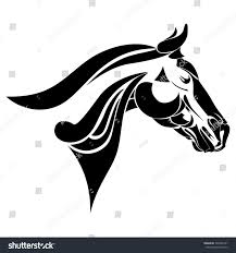 mustang horse logo horse head logo horse symbol corporate stock illustration