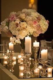 tall centerpiece and mercury candle holder google search dream