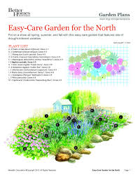Garden Plans Zone - easy care northern garden plan would be easy to substitiute