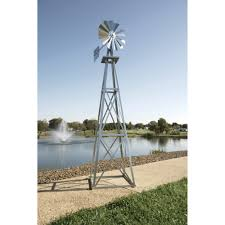 outdoor water solutions ornamental garden windmill 11ft 6in h
