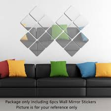 only pcs set acrylic squares wall mirror stickers only pcs set acrylic squares wall mirror stickers room bedroom tomtop